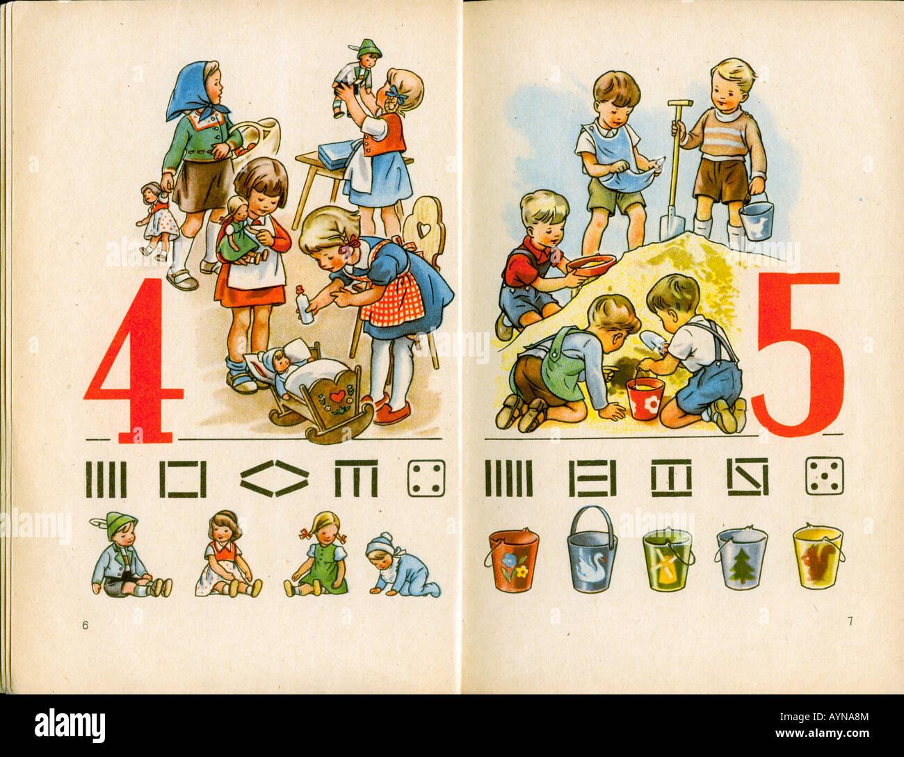 """""""Bildung, Unterrichtsmaterial, Schulbuch""""Leben Und Zahl""""(Leben und Figur), 1. Form veröffentlichen Stockbild"""