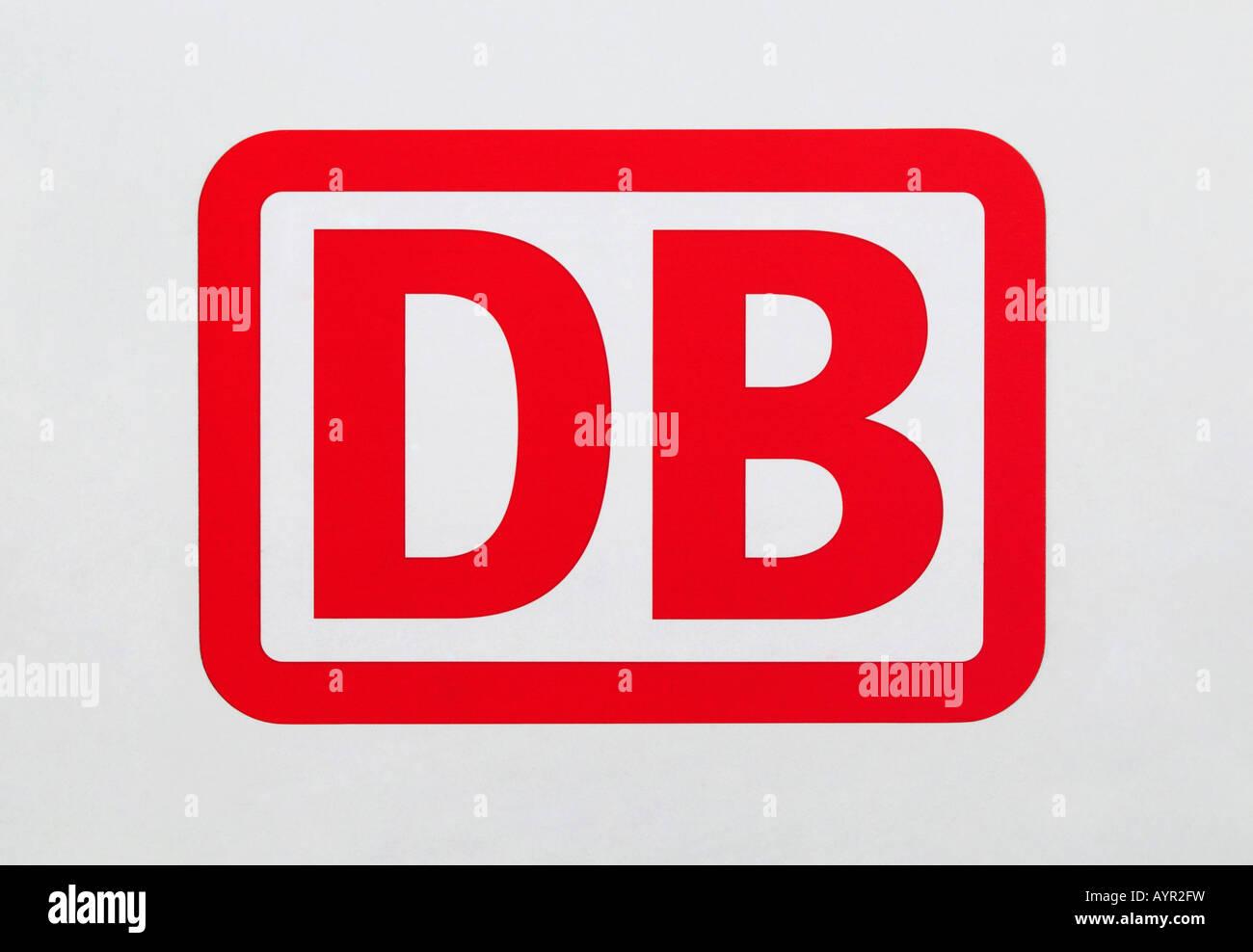 Deutsche Bahn, DB (Deutsche Bahn) logo Stockbild