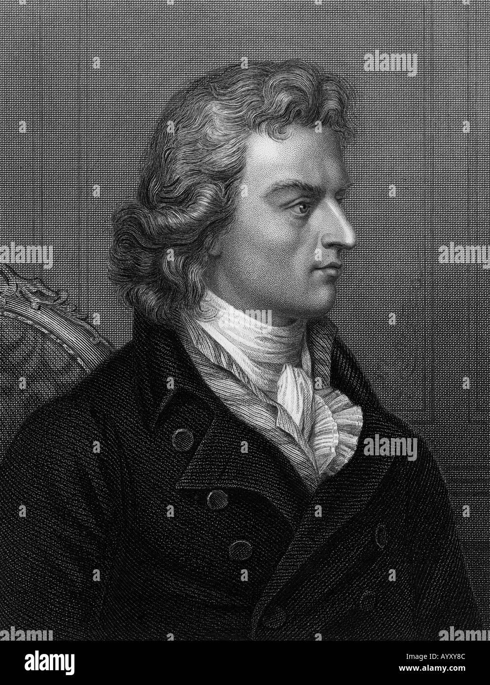 FRIEDRICH von SCHILLER deutsche Dramatiker 1759-1805 Stockbild