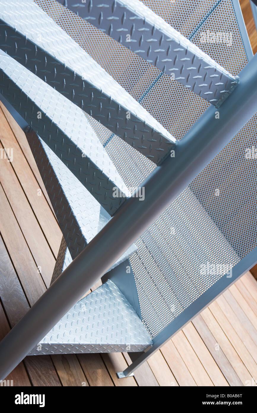 Wendeltreppe, beschnitten, Ansicht Stockbild