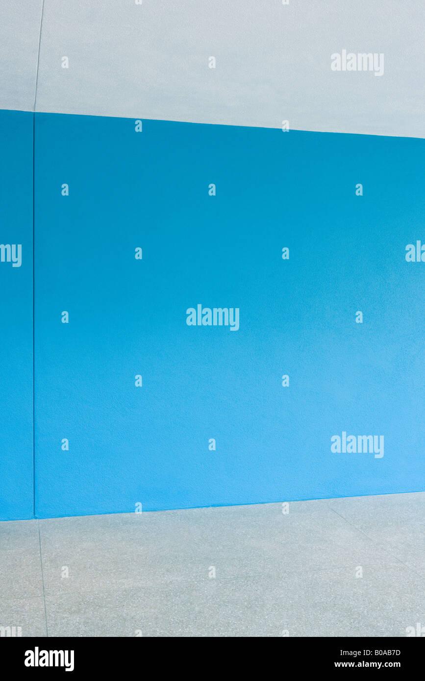Blaue Wand Stockbild