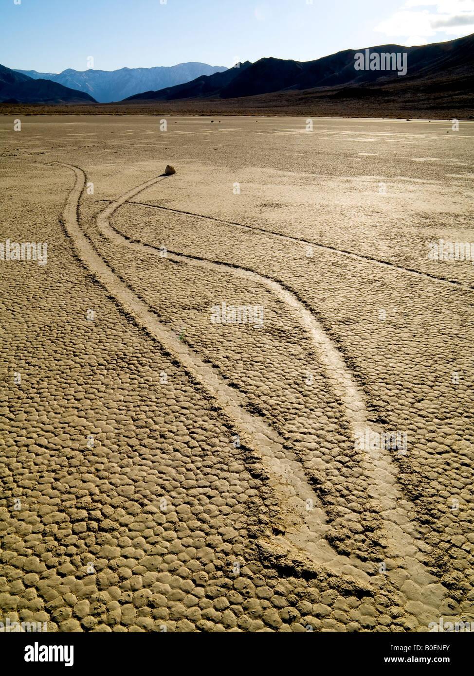 Rolling Rock der Rennstrecke Death Valley Nationalpark Kalifornien Nevada USA Stockbild