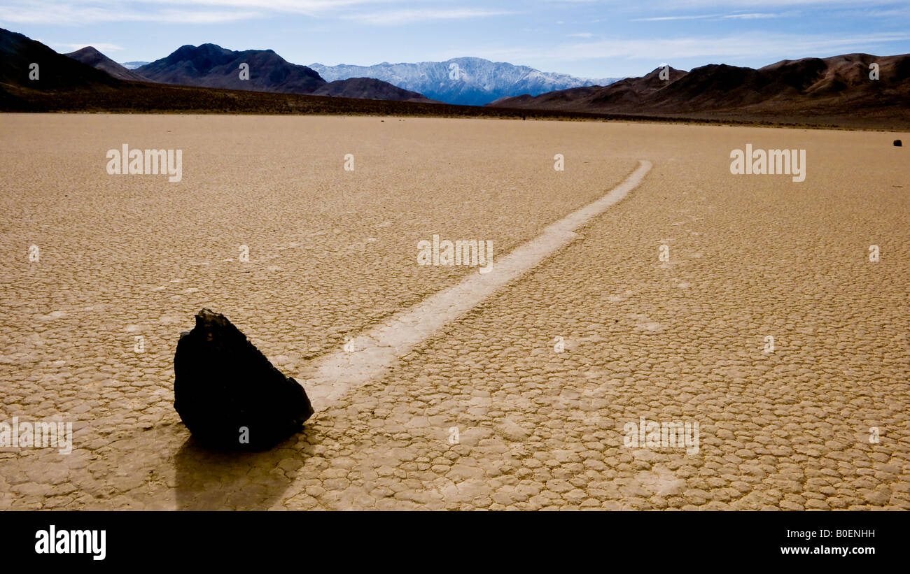 Rolling Rock der Rennstrecke Death Valley Nationalpark Kalifornien Nevada USA Stockbild