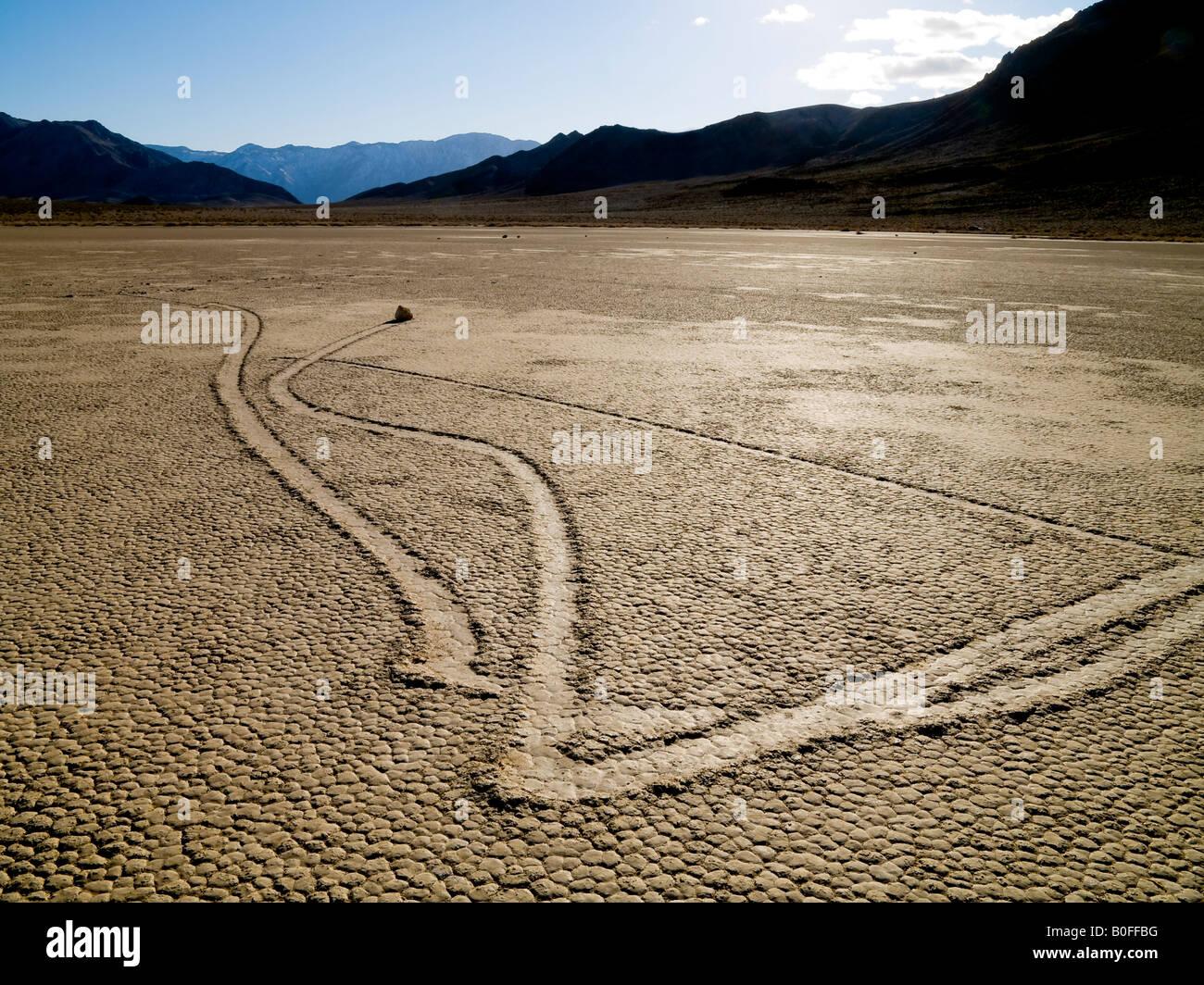 Rollenden Felsen der Rennstrecke Death Valley Nationalpark Kalifornien Nevada USA Stockbild
