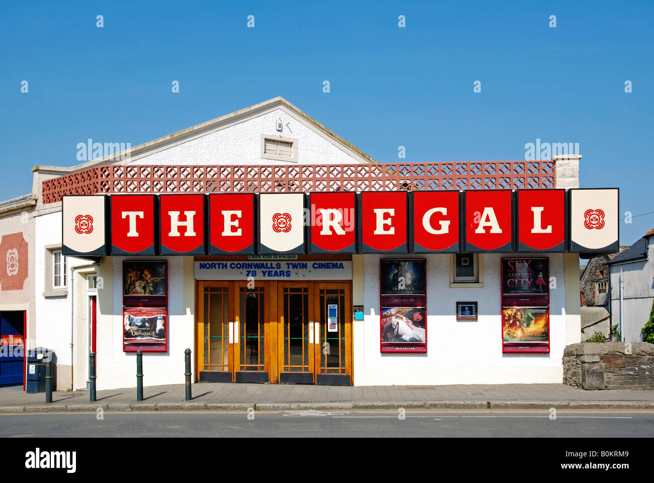 das alte königliche Kino in Wadebridge in Cornwall, england Stockbild