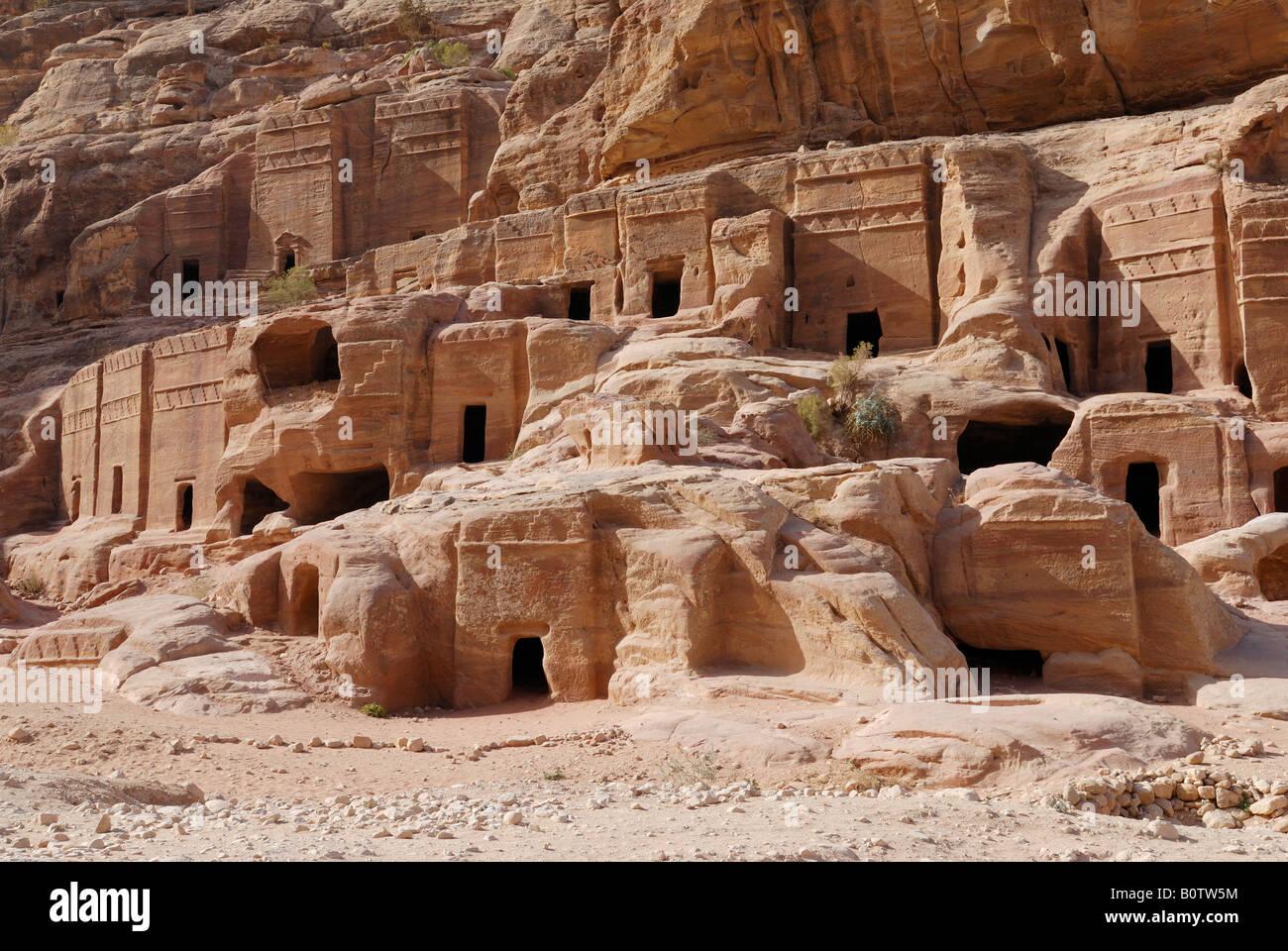 jordan ancient nabataean city petra stockfotos jordan ancient nabataean city petra bilder alamy. Black Bedroom Furniture Sets. Home Design Ideas