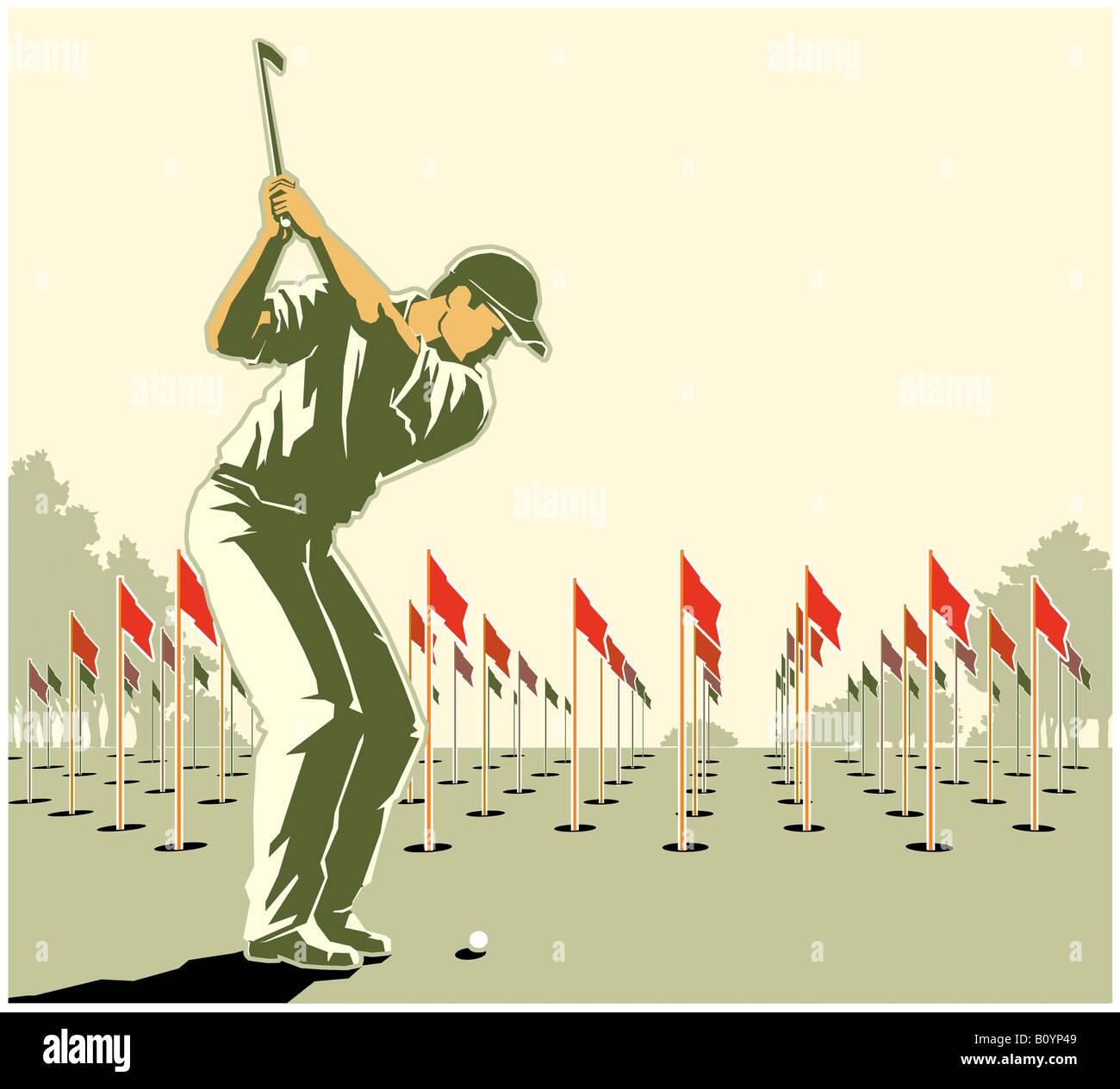 Golfspieler Stockfoto