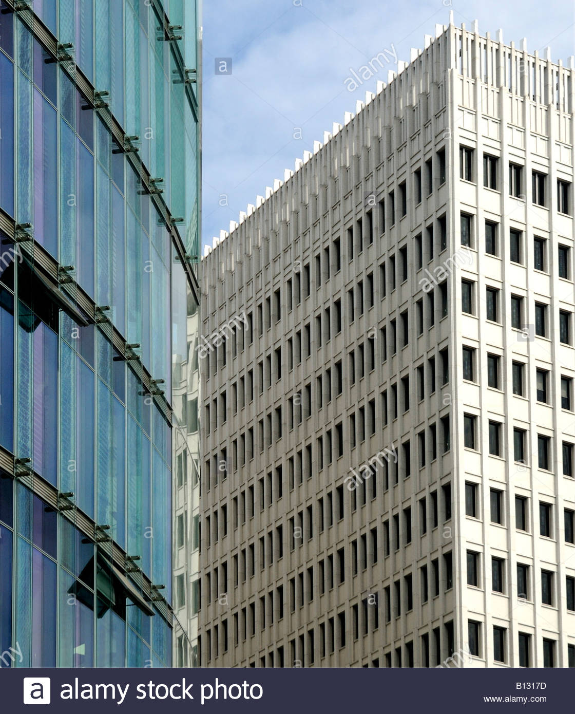 Deutsche Bahn AG Tower und Bürogebäude, Potsdamer Platz, Berlin, Deutschland. Stockbild