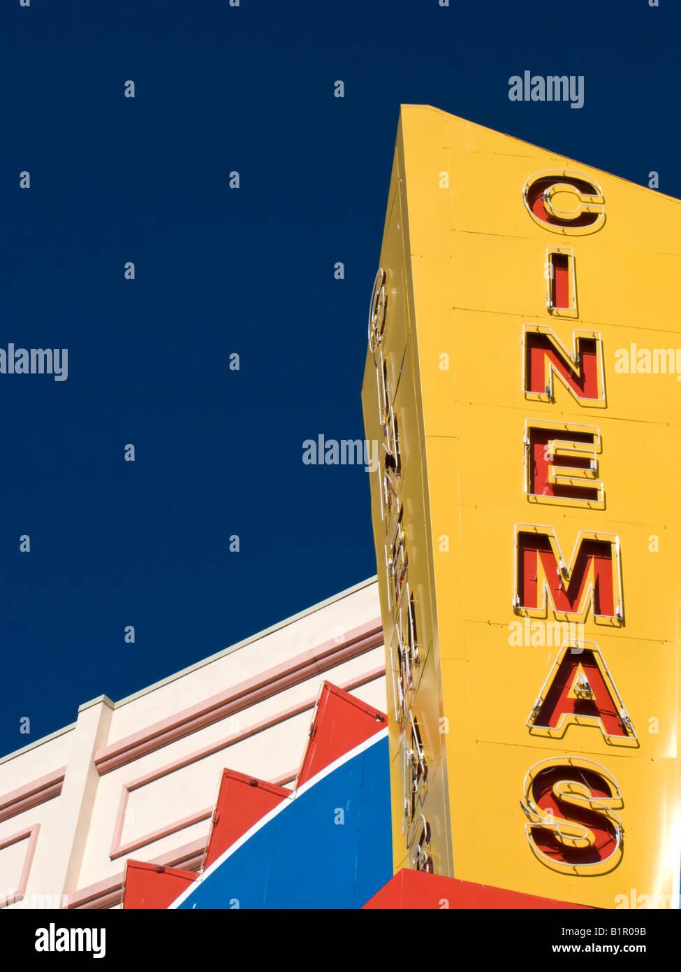 Kino-Zeichen Stockbild