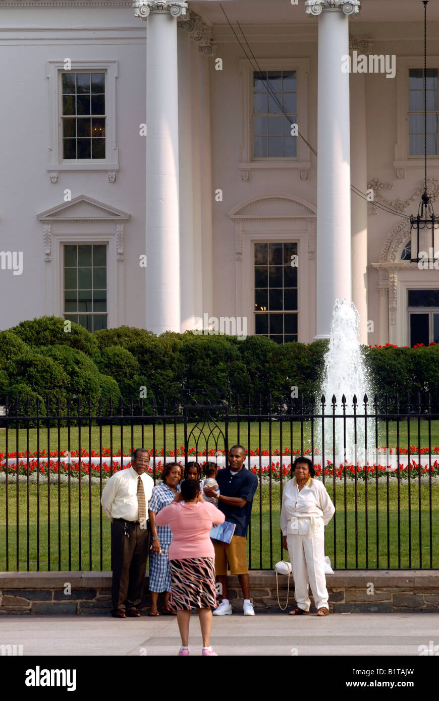Afro American Family besuchen die weißen Haus Washington DC USA Stockbild