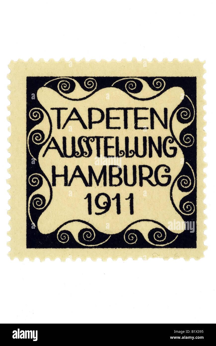 Tapeten-Ausstellung Hamburg 1911 Stockfoto, Bild: 18398385 - Alamy