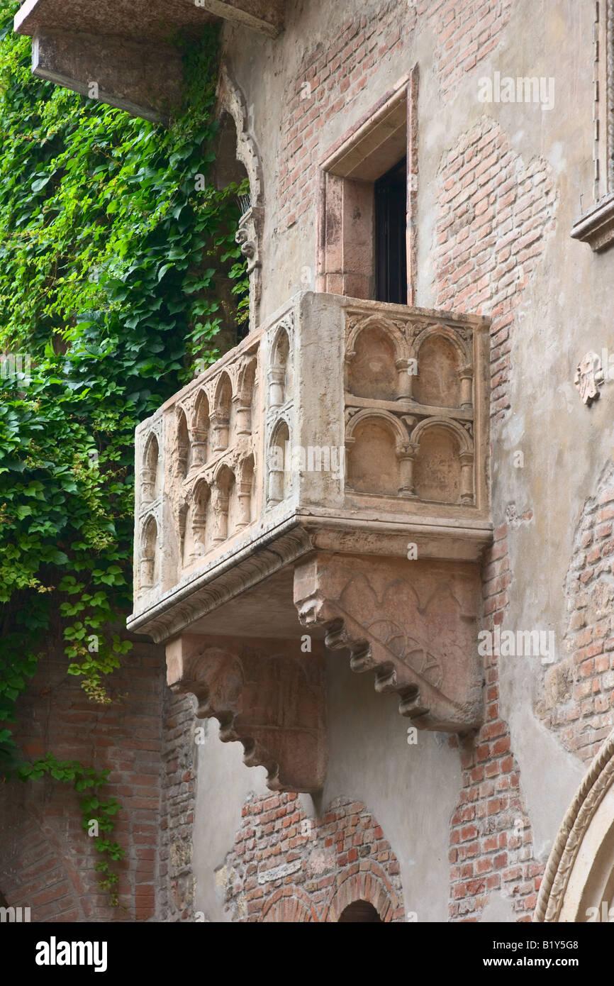 Romeo und Julia Balkon in Verona Italien Stockbild