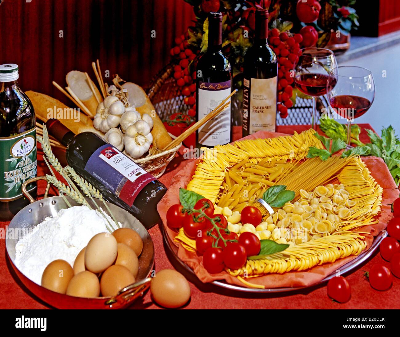 0804 Essen trinken Italienisch Stockbild