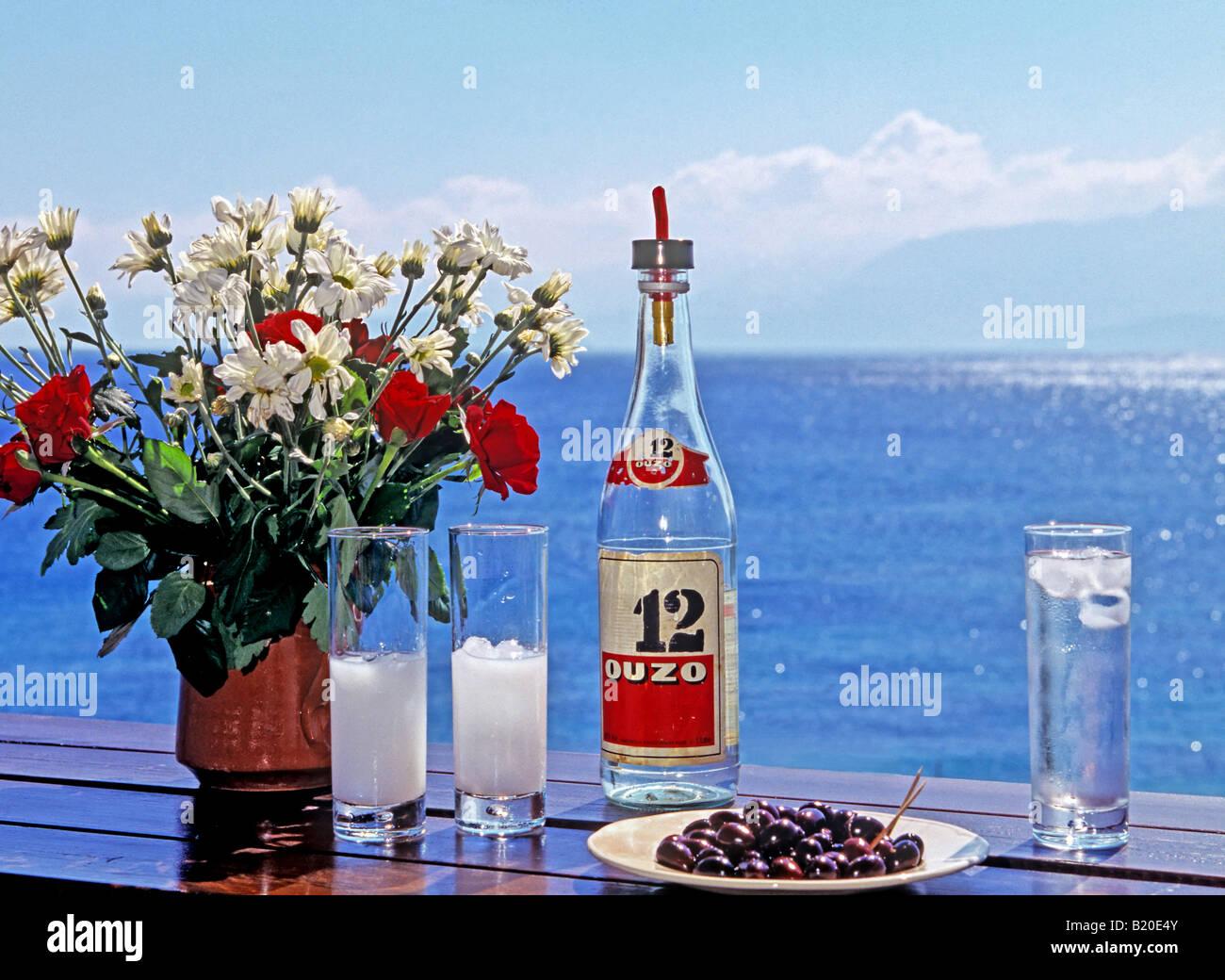 0807 Essen trinken Griechisch Stockbild