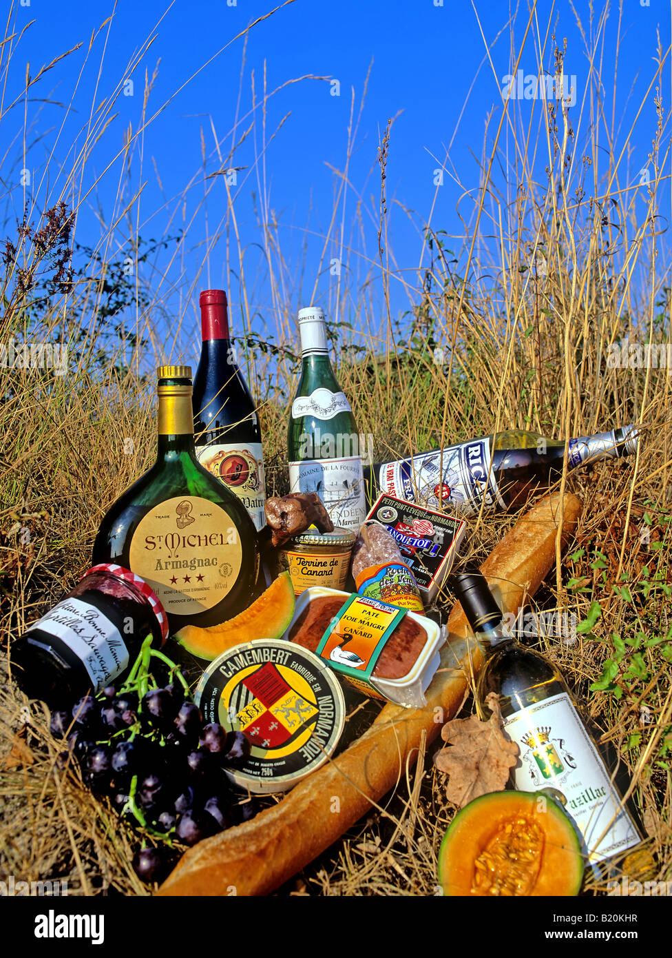 0799-Essen-trinken-Französisch Stockbild