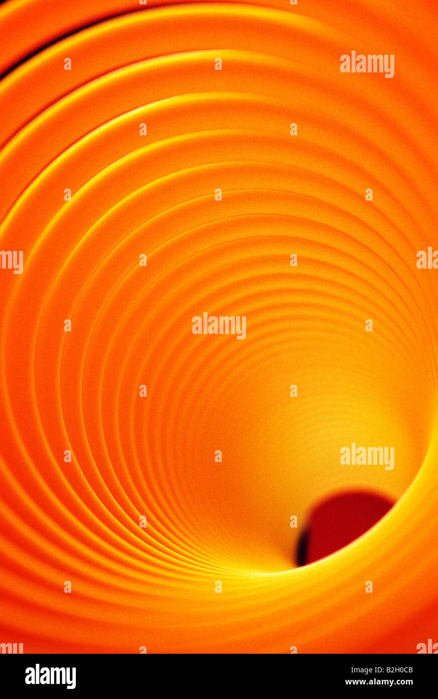 "Abstrakte Nahaufnahme eines Spielzeugs ""Slinky"" Stockbild"