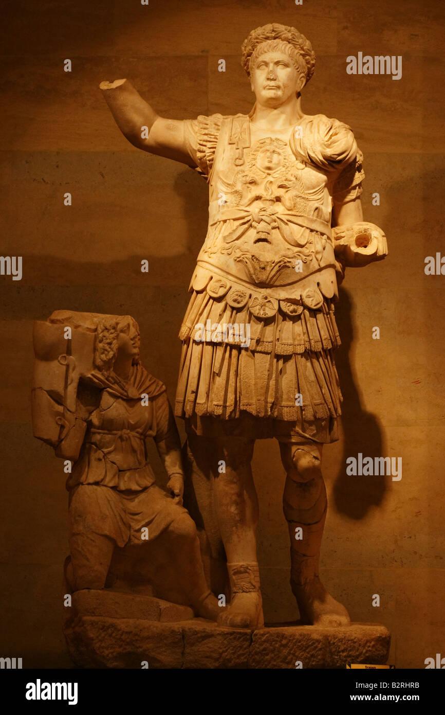 Marcus Ulpius Nerva Traianus, allgemein bekannt als Trajan (18. September 53 ? 9 August 117), war ein Roman Emperor Stockbild