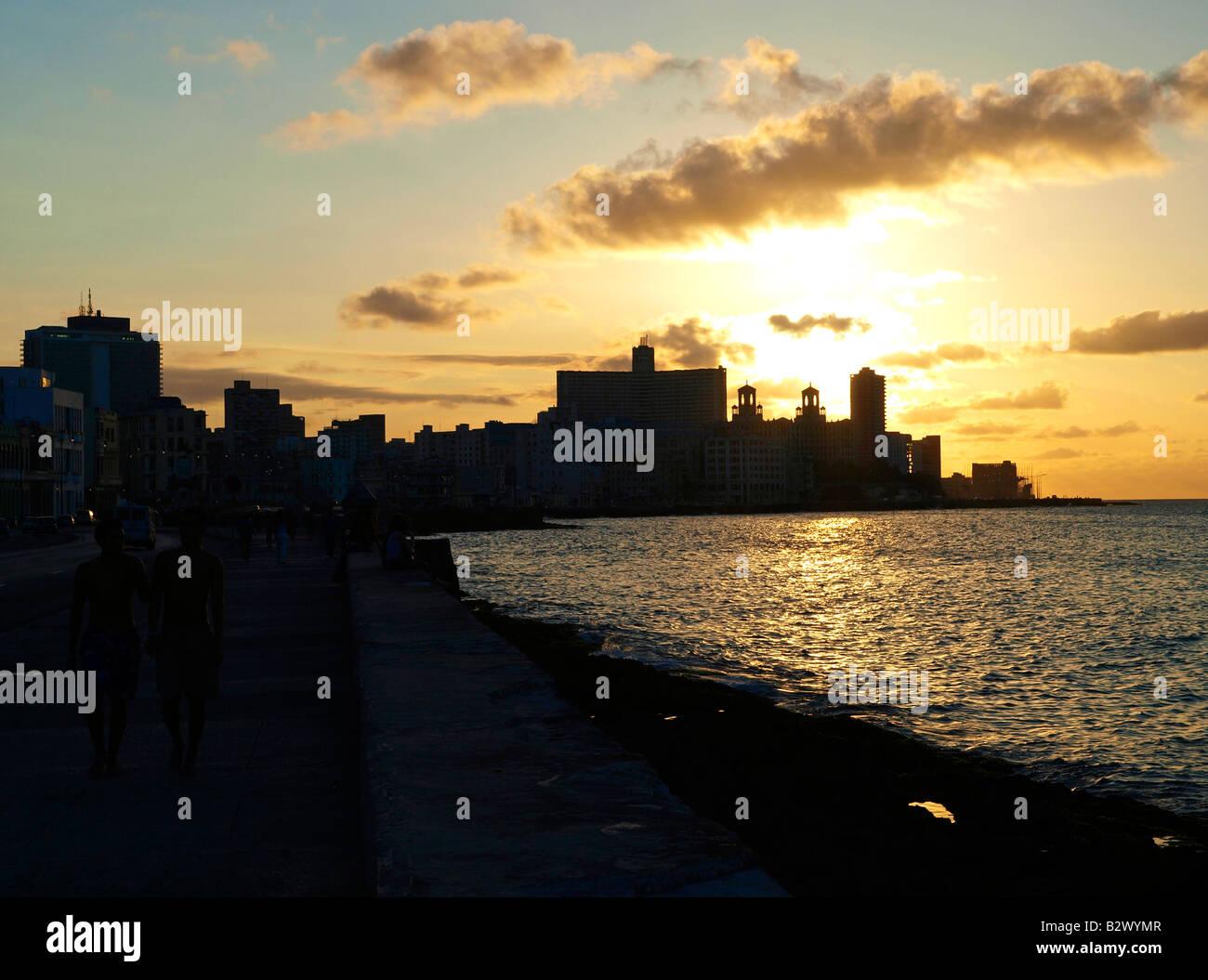 Havanna Vieja, Altstadt, Malecon Stockfoto