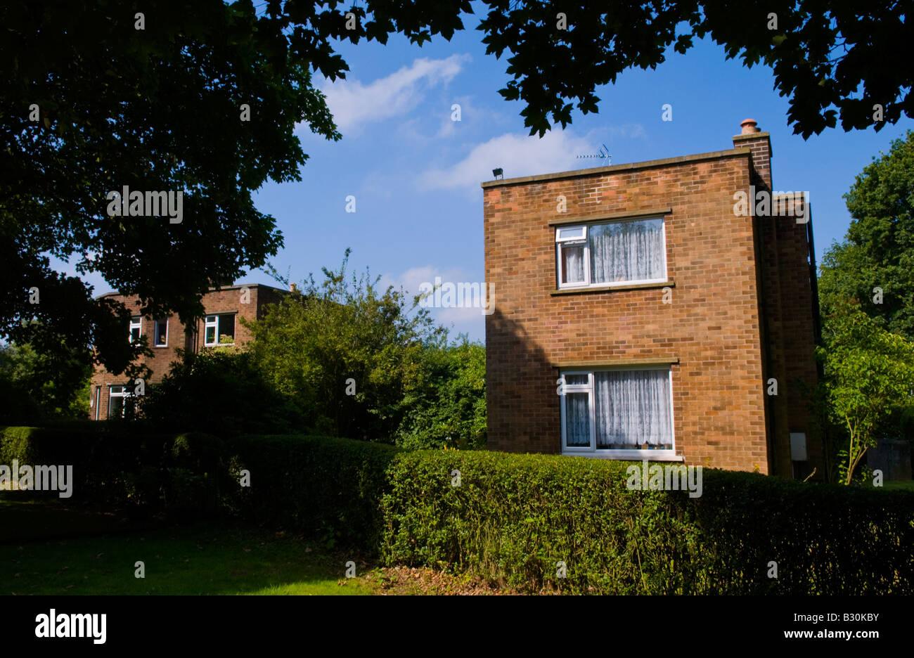 Einfamilienhaus, erbaut in den 1940er Jahren im ländlichen Rufford Nottinghamshire England UK EU Stockfoto