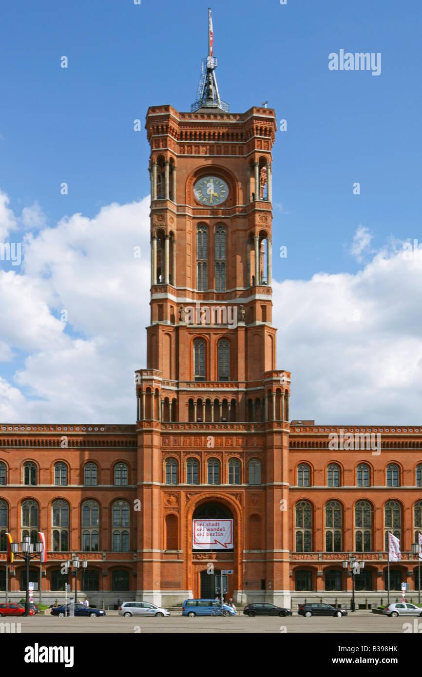 Deutschland, Berlin, Das Rote Rathaus, Deutschland, Berliner Roten Rathaus Stockbild