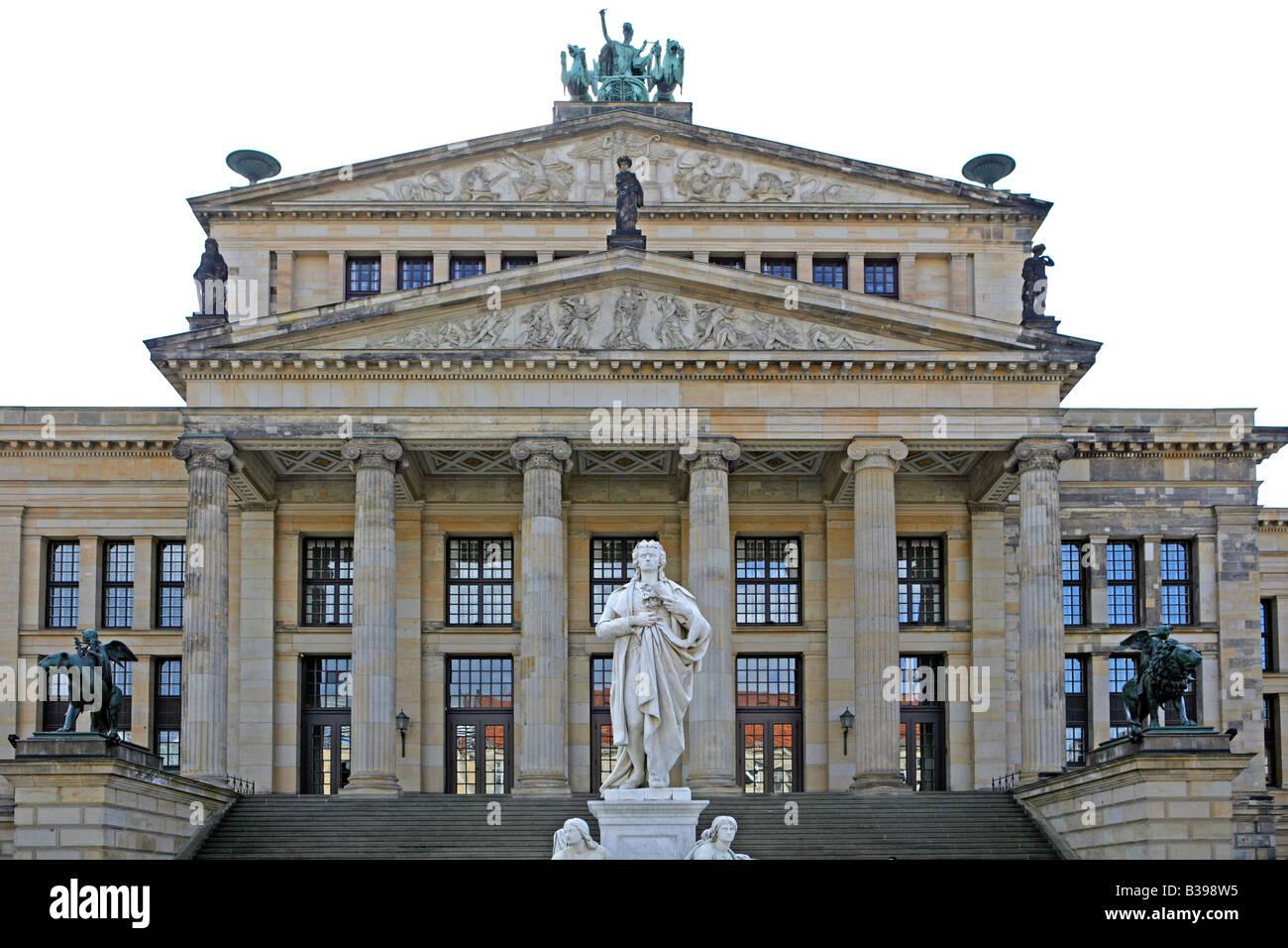 Deutschland, Berlin, Konzerthaus Und Schillerdenkmal bin Concert Hall Gendarmenmarkt Berlin, Gendarmenmarkt und Stockbild