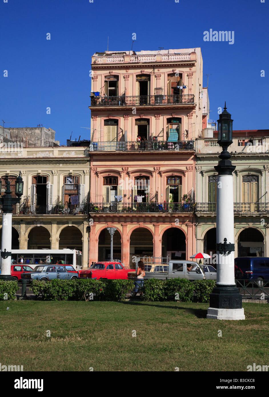 Parque Central am Boulevard Paseo de Marti in der Nähe der Hauptstadt Havanna Havanna Habana Kuba Stockbild