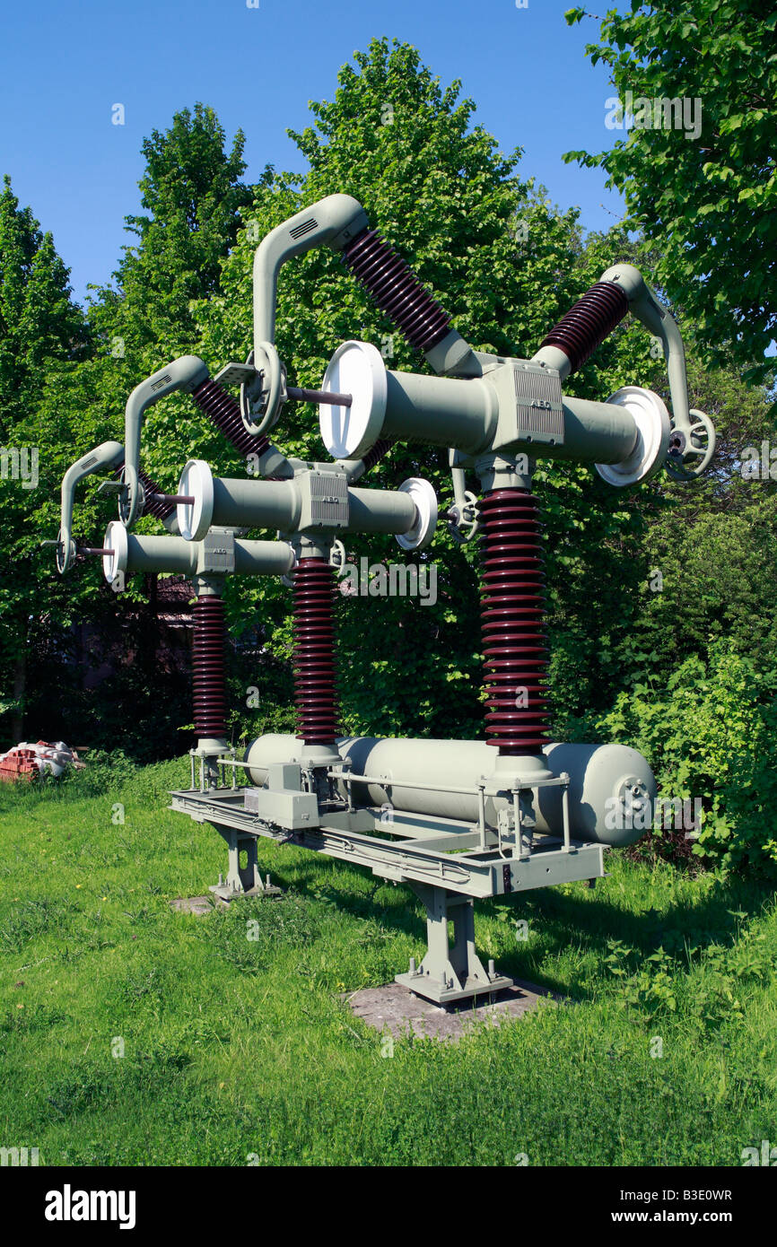 """Route der Industriekultur, Umspannwerk Recklinghausen, Vereinigte Elektrizitaetswerke Westfalen, Museum """"Strom Stockbild"""