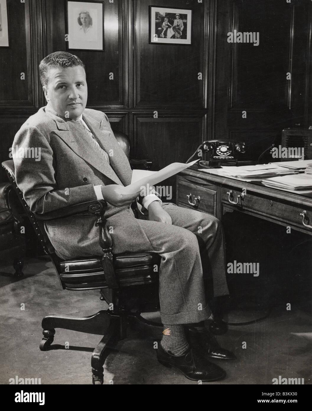 HENRY FORD II im Jahre 1945 er Präsident der Ford Motor Company wurde Stockbild
