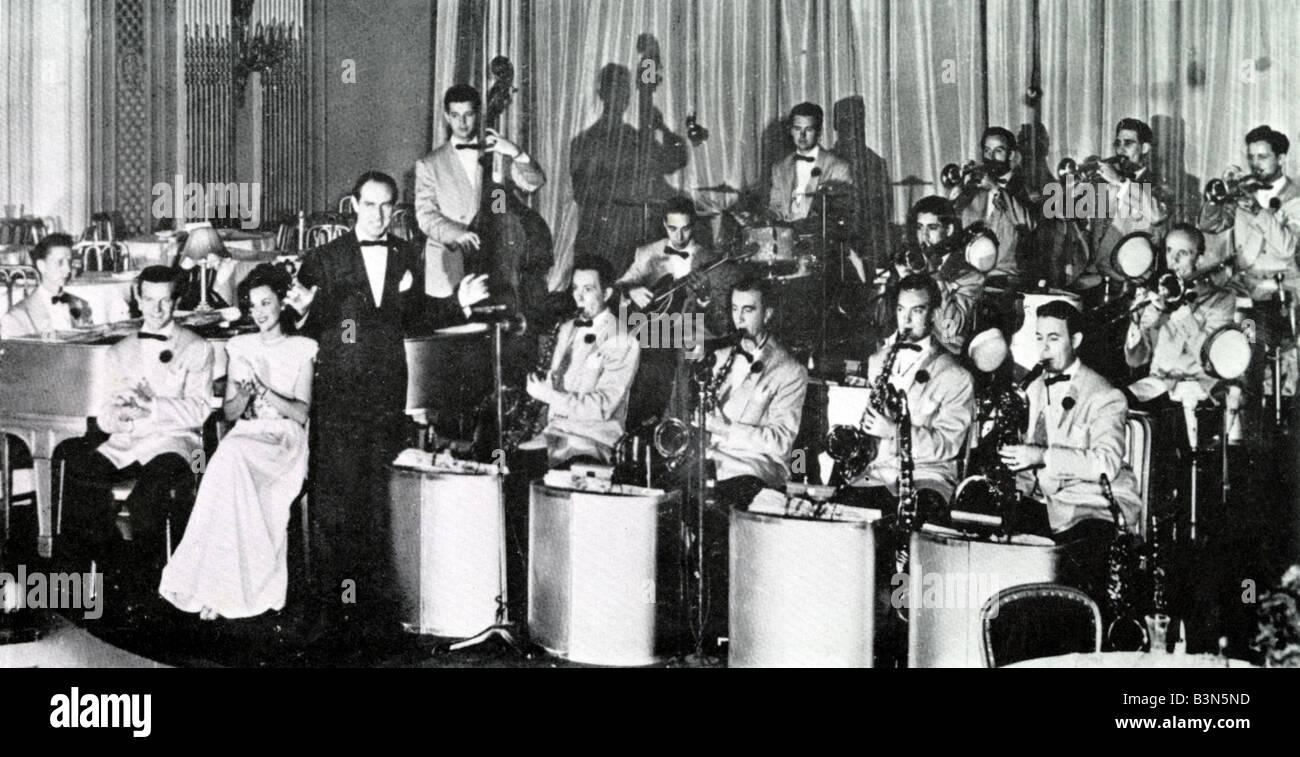 DEL COURTNEY Orchester U.S.-Big-Band der 30er und 40er Jahre Stockbild
