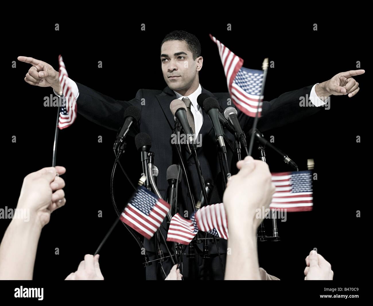 Politiker und Anhänger Stockbild