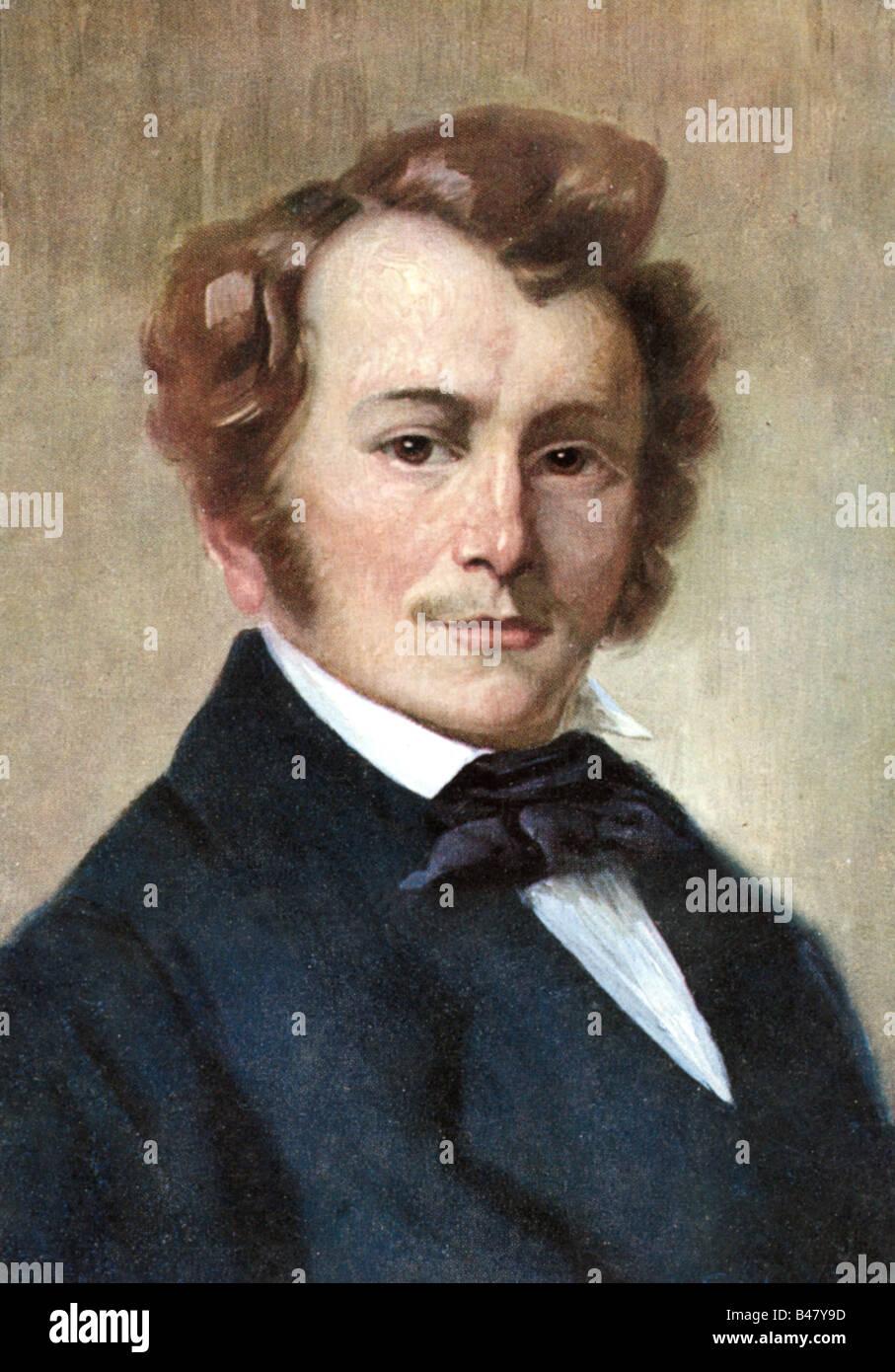 Lortzing, Albert, 23.10.1801 - 21.01.1851, deutscher Komponist, Portrait, Gemälde von Robert Einhorn, um 1910, Stockbild