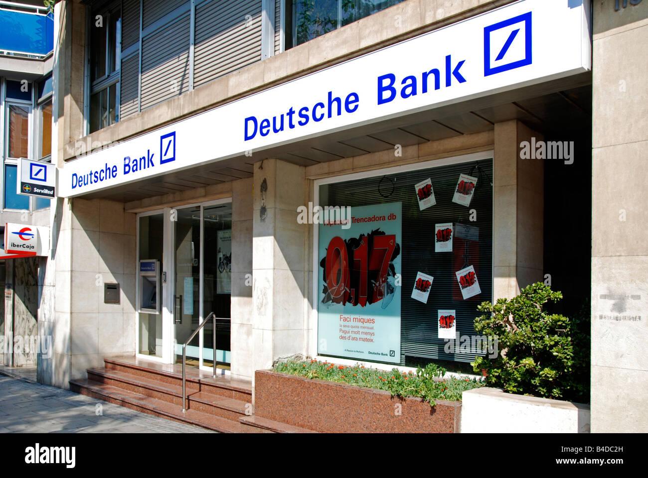 Deutsche Bank Eingang, Tarragona, Spanien Stockbild