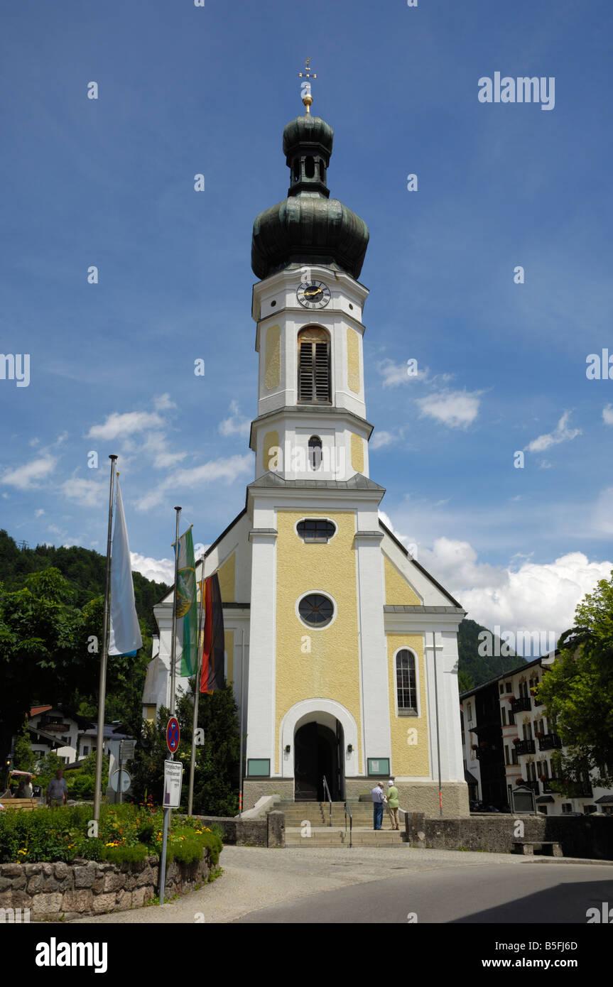 Reit Im Winkl Kirche, Bayern, Deutschland Stockbild