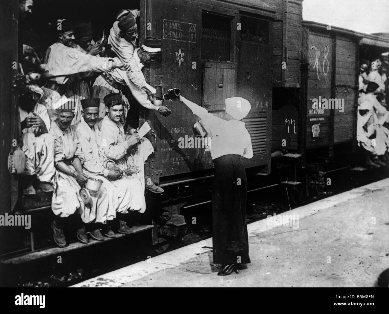 Türken bei Champigny station Foto Geschichte Weltkrieg Frankreich Türken bei Champigny Station vor der Stockbild