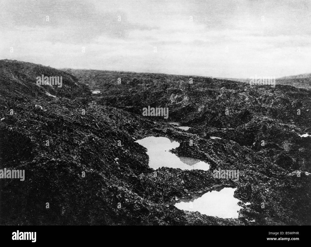 9 1916 10 24 A1 E Douaumont nach Rückeroberung 1916 Erster Weltkrieg 1914-18 1 Western Front Schlacht um Verdun Stockbild