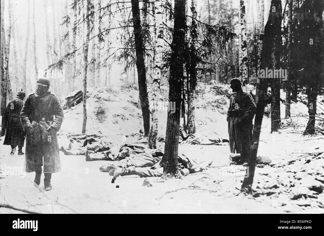 9 1916 3 18 Truppen nach einem Offen Sive o A1 15 E Schlacht von Postawy 1916 Ger Stellung des 1. Weltkrieges östlichen Stockbild