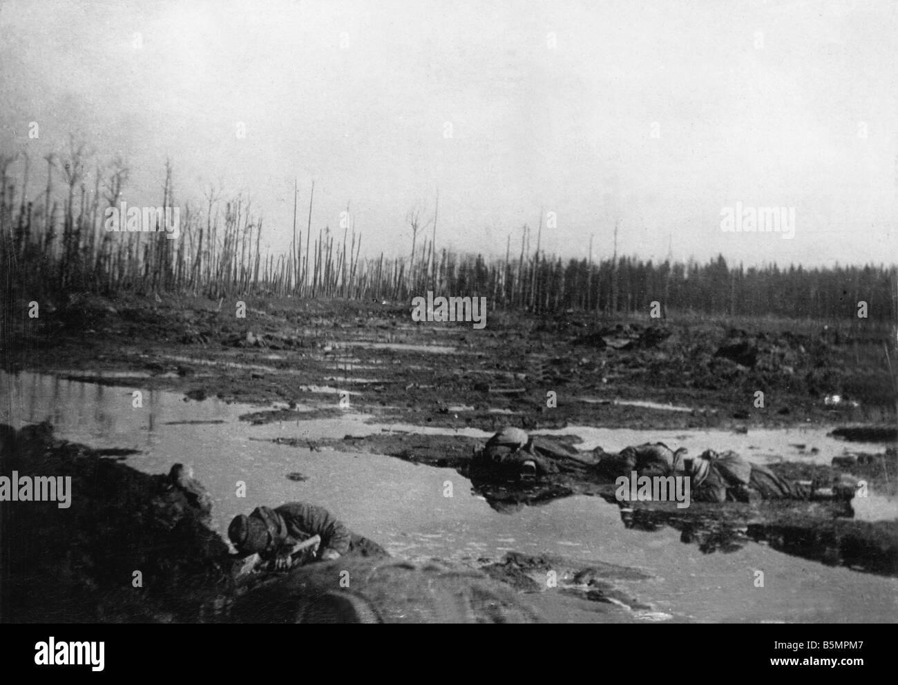 9 1916 3 18 A1 5 E Schlacht von Postawy 1916 Schlachtfeld Weltkrieg östlichen vorderen Niederlage der russischen Stockbild
