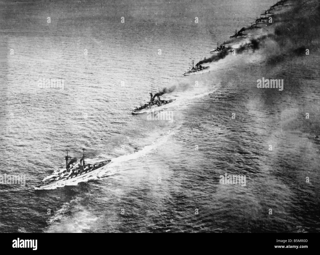 9 1916 5 31 A1 18 E Schlacht von Jütland 1916 britischen F Eet ein Weltkrieg 1914-18 Schlacht von Jütland Stockbild