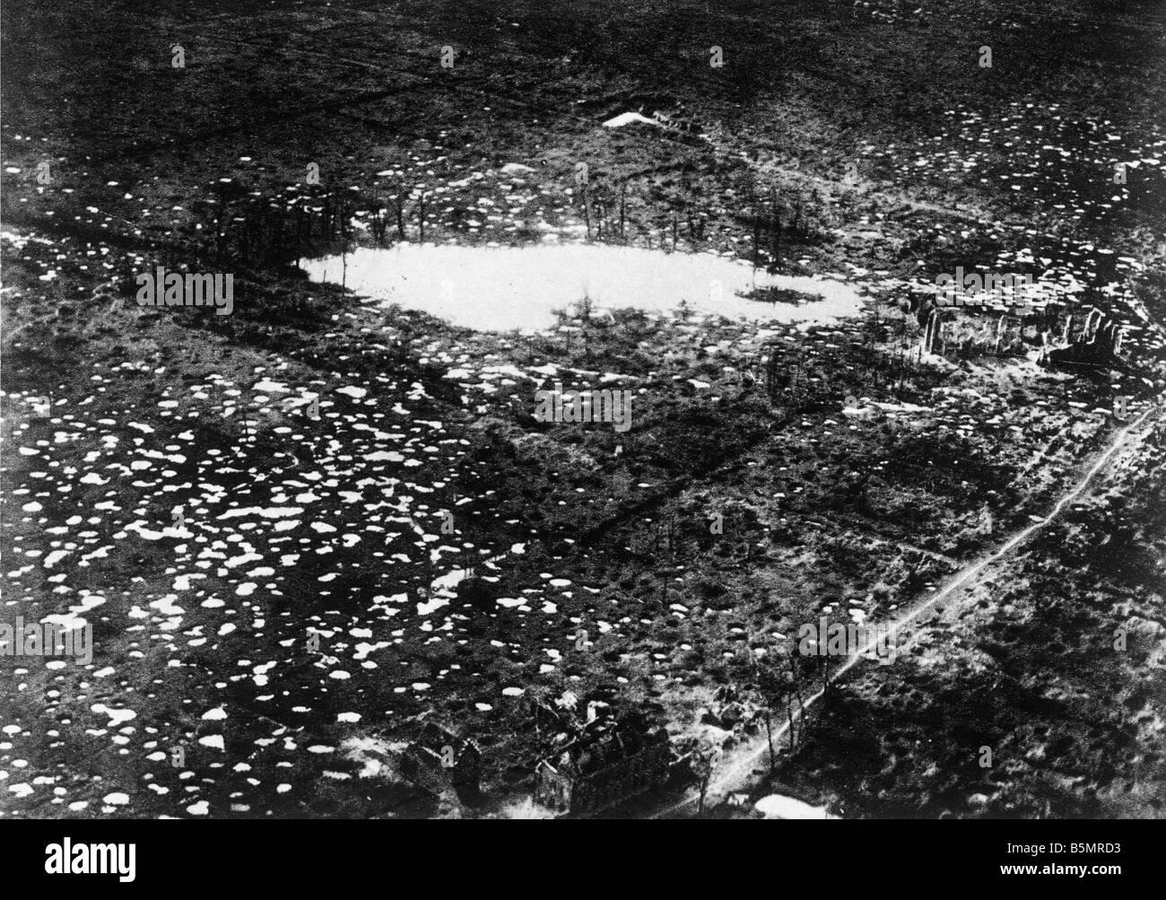 9 1917 10 4 A1 E Zounebeke in Schlacht von Flandern 1917 Erster Weltkrieg 1914-18 1 Western Front Schlacht von Flandern Stockbild