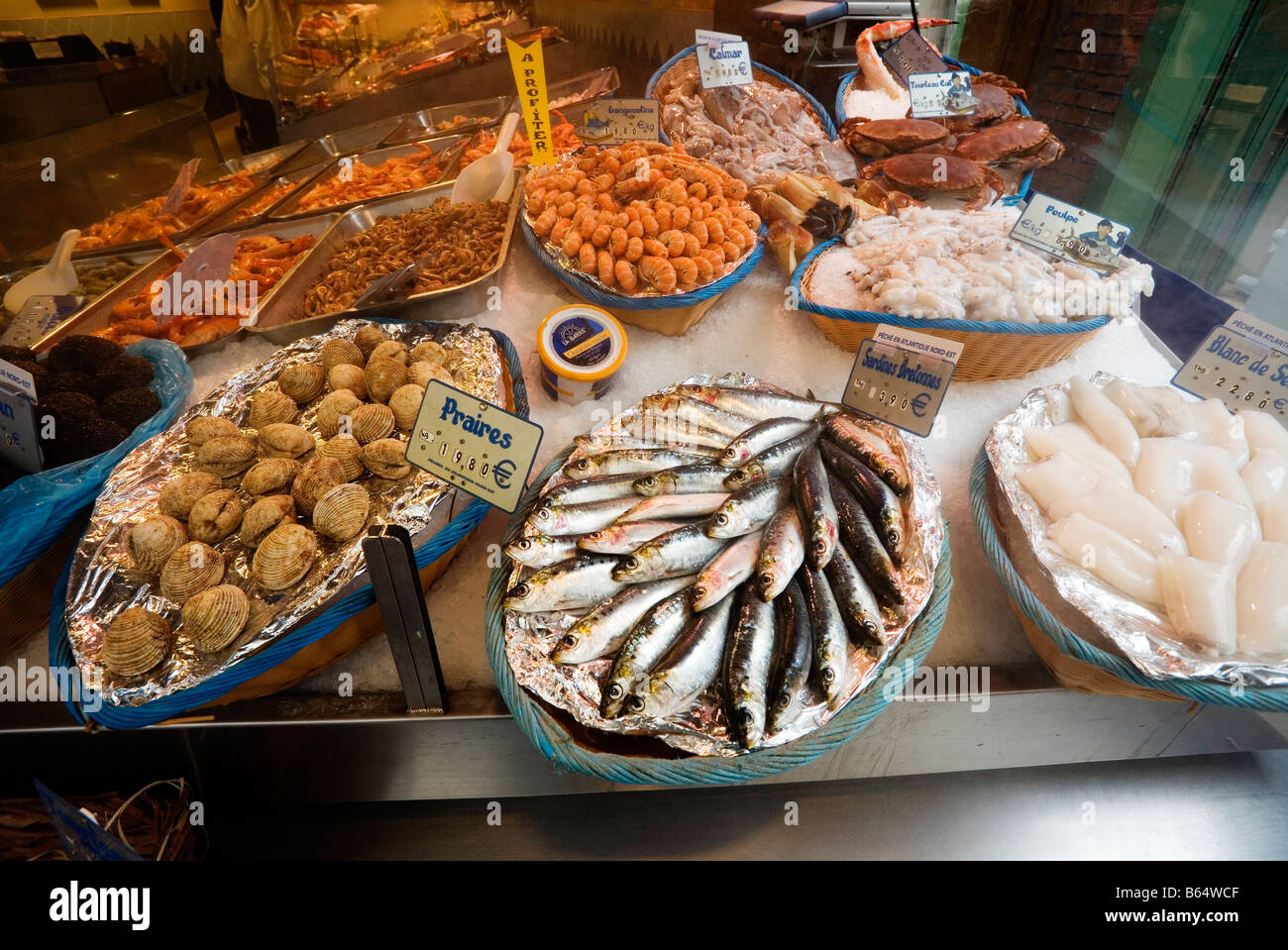 Fish market ile de france stockfotos fish market ile de for Franks fish market