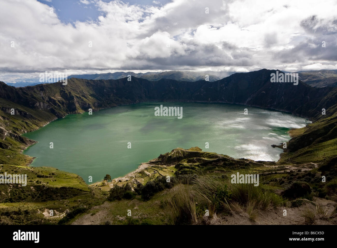 Quilotoa Krater Zumbahua Provinz Cotopaxi Ecuador Stockbild