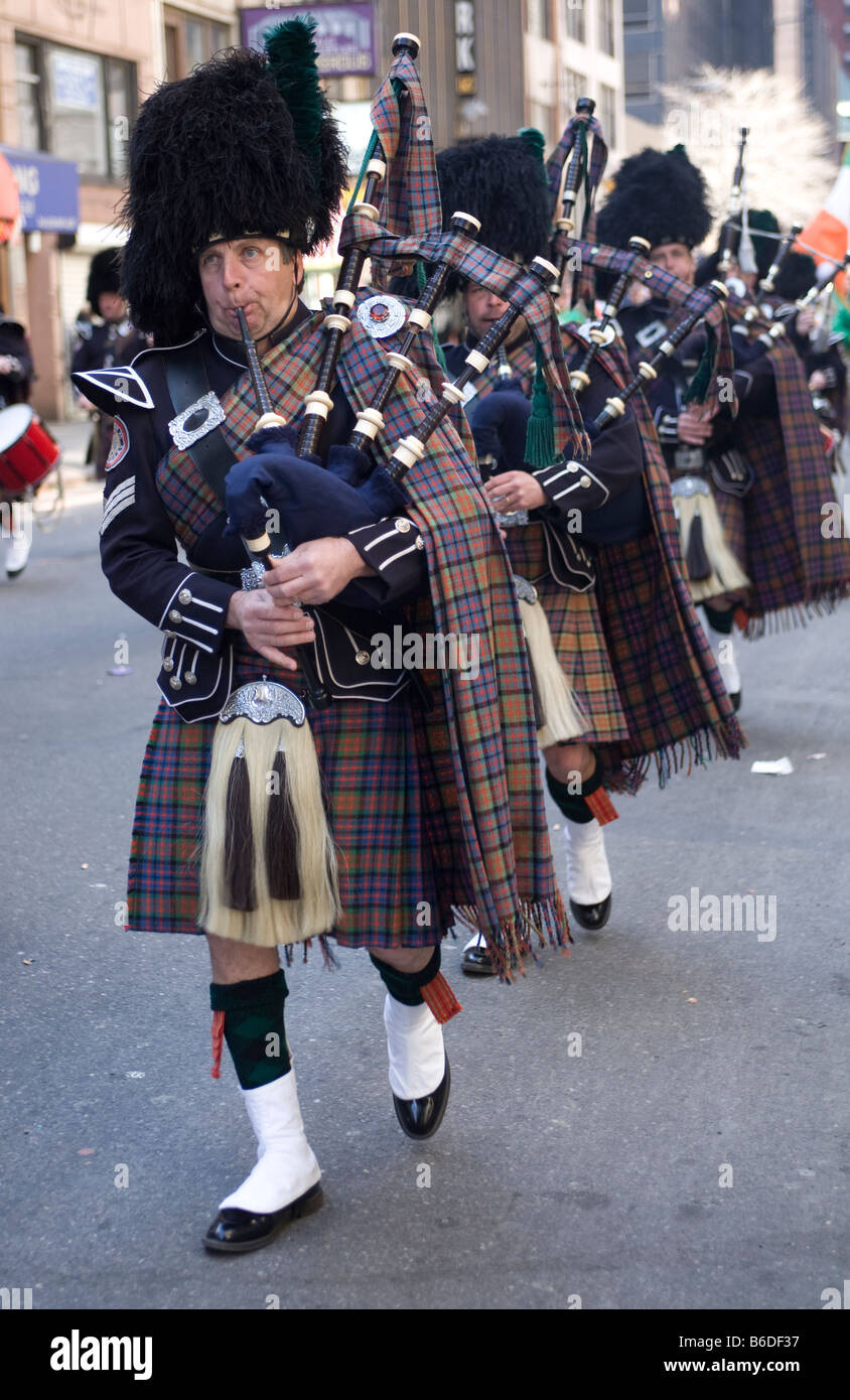 Saint Patrick s Day Parade New York City Stockbild