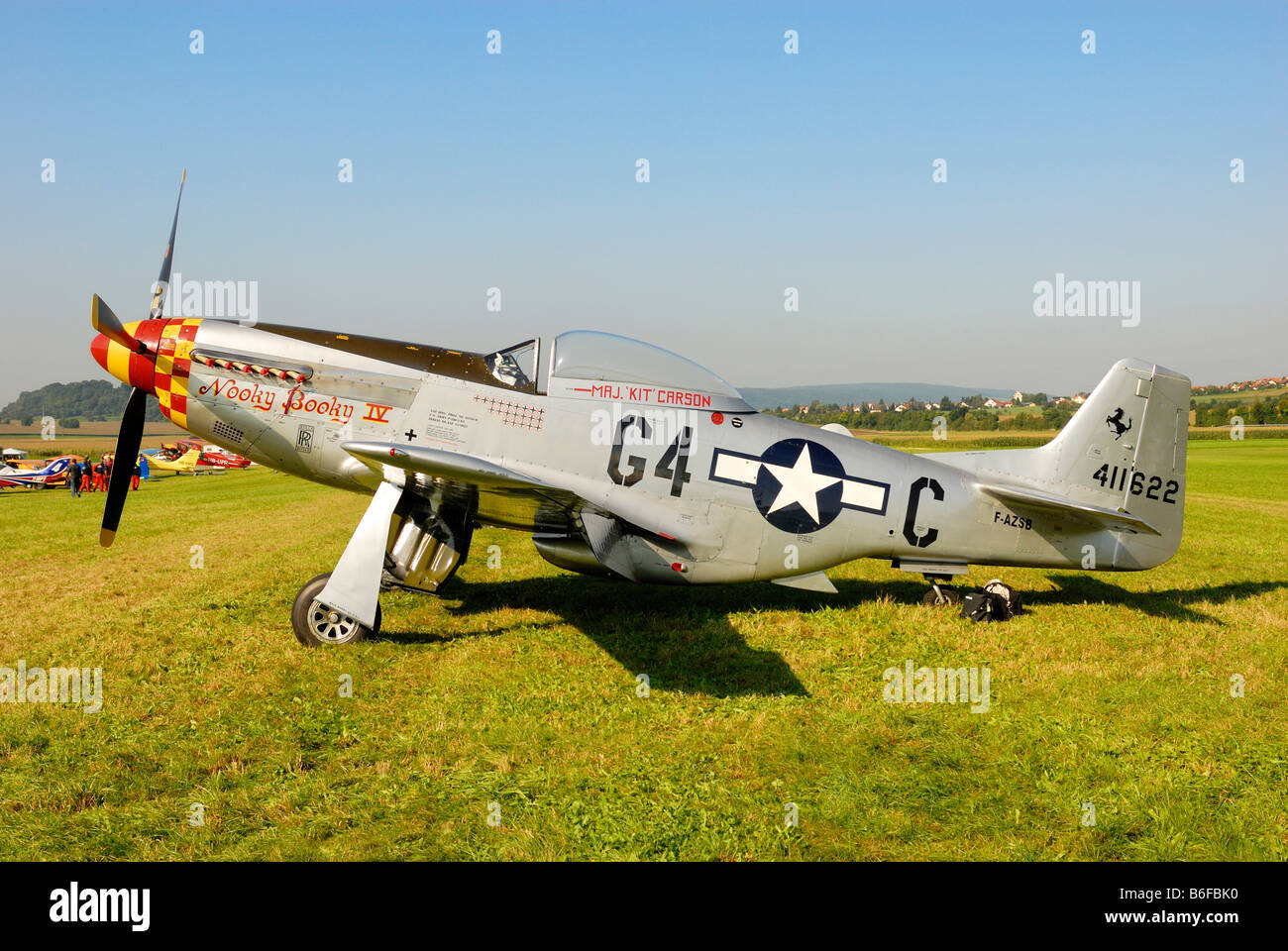 Legendäre amerikanische Jagdflugzeug North American p-51 Mustang Stockbild