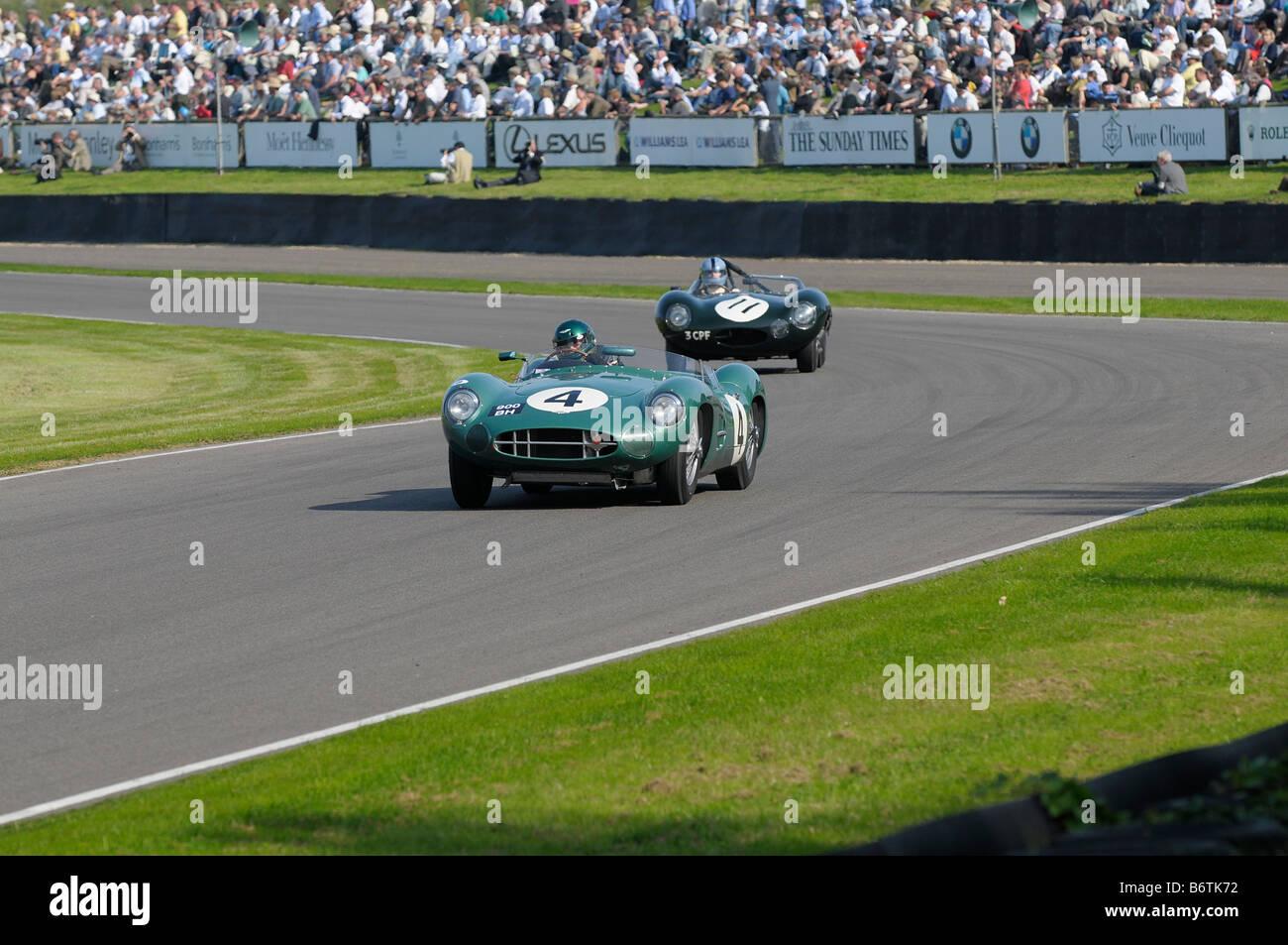Beim Goodwood Revival meeting September 2008 Aston Martin DBR1 2992cc 1959 Wolfgang Friedrichs Stockbild