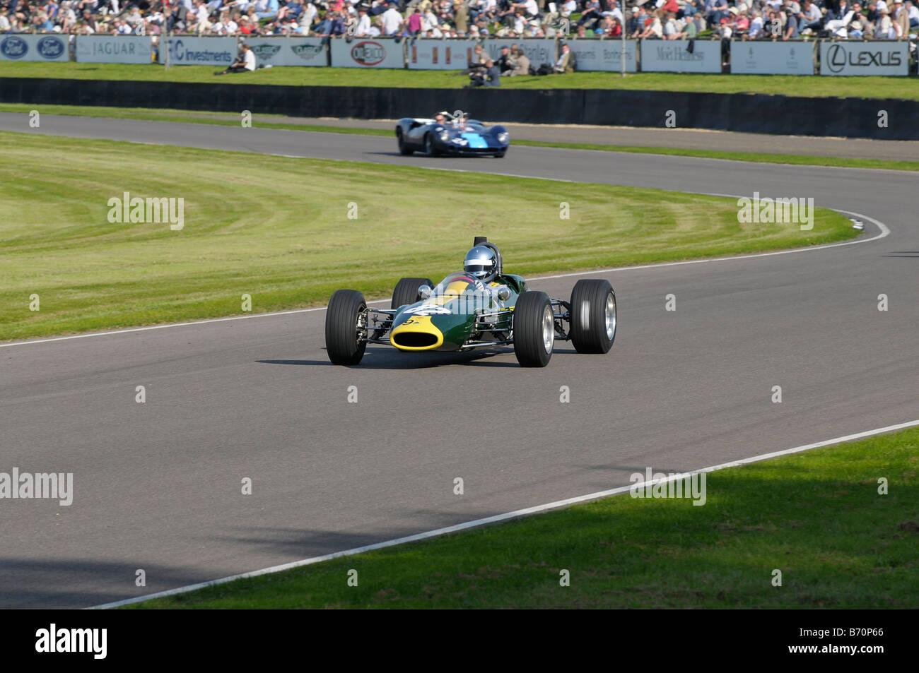 Beim Goodwood Revival meeting September 2008 Lotus 41 Stockbild