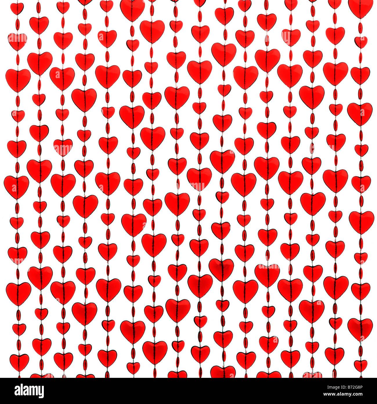 Rote Herzen Stockfoto