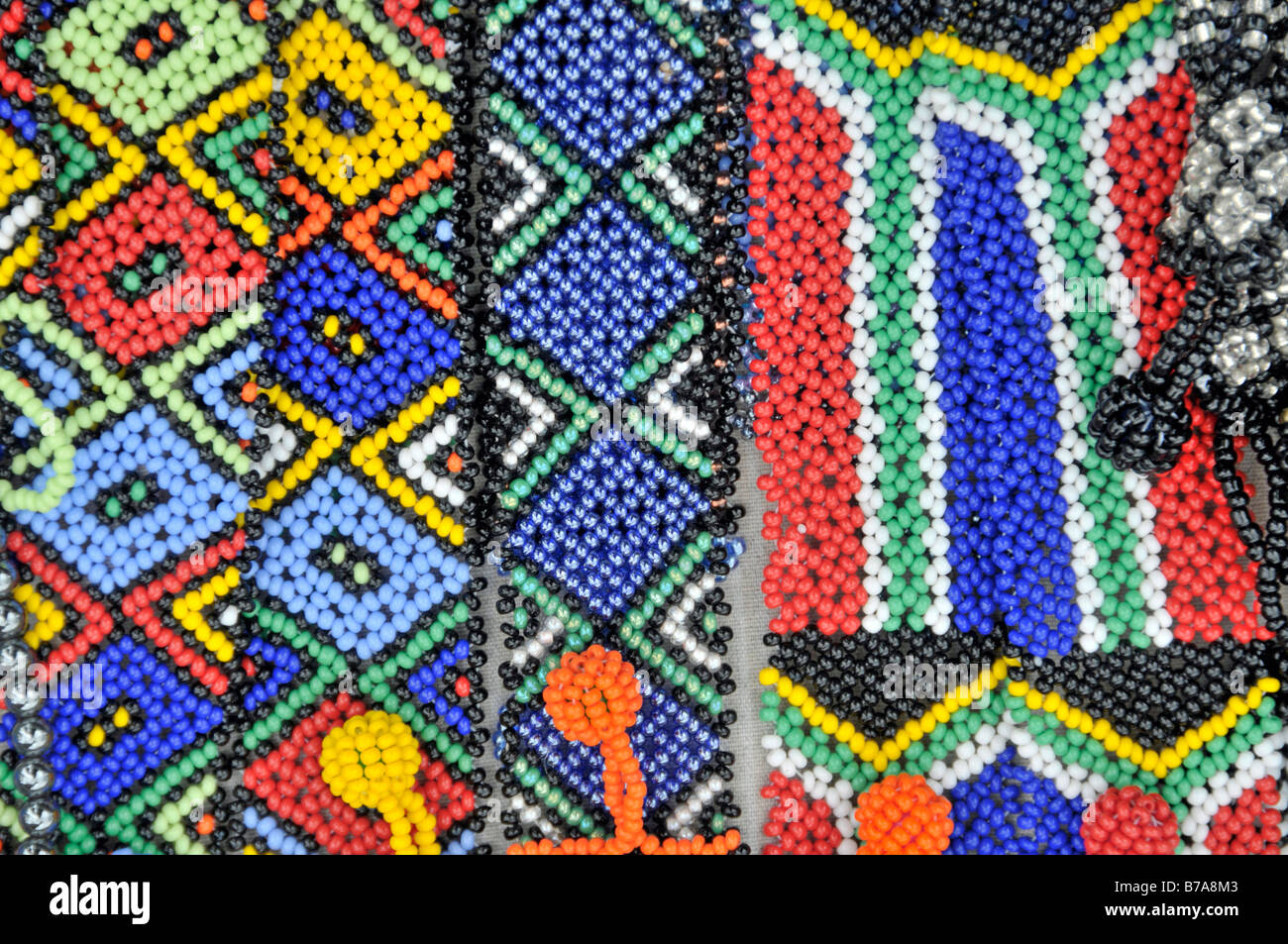 Billig Schmuck, Bulk-Artikel, Souvenirs, Santa Lucia, Südafrika, Afrika Stockbild