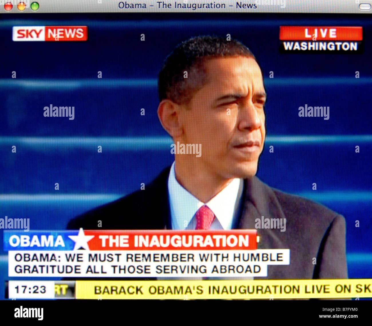 Der historische Amtseinführung von Barack Obama am 20. Januar 2009 Stockbild