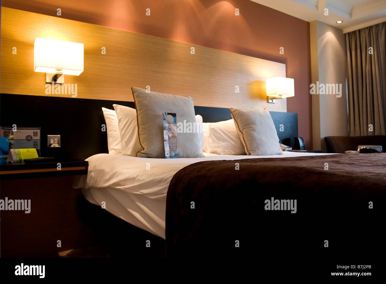 Hilton Hotel Metropole Stockbild