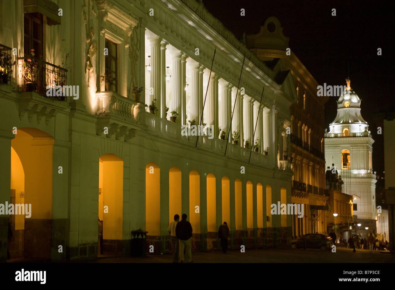 Ecuador Quito Plaza Grande Independencia Chile Straße Stockbild